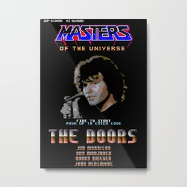 Masters of the Univers - Doors - C64 Title Screen Metal Print