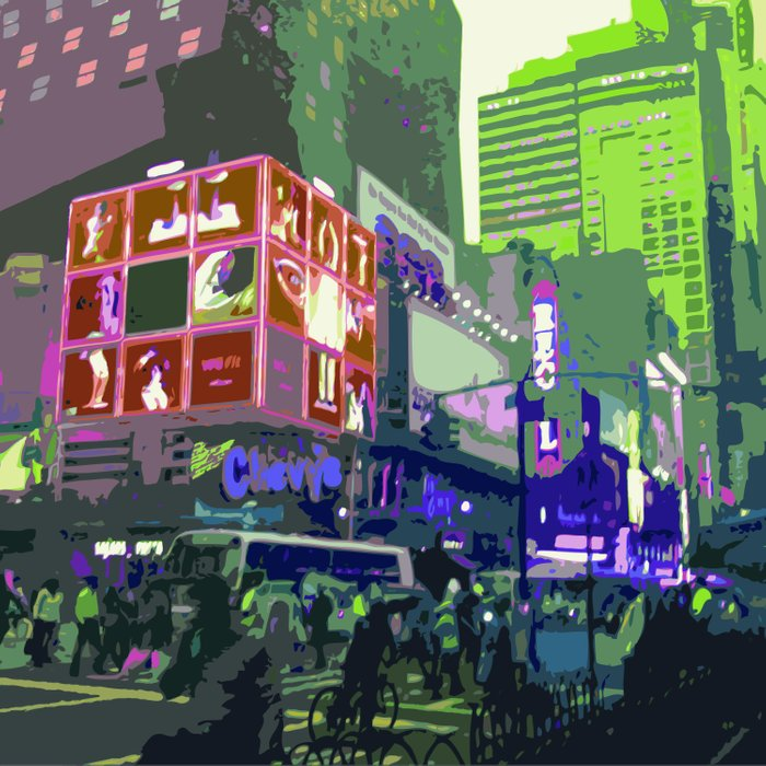 NY#10 Times Square3 Duvet Cover