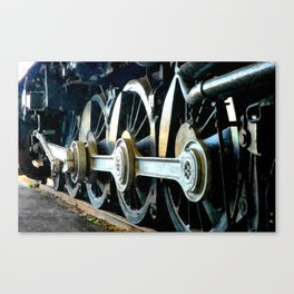 There's a Train a Comin' Canvas Print