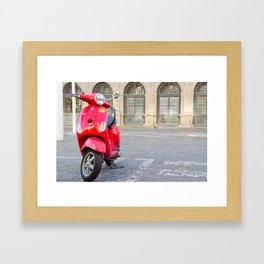 Sevillian Moped Framed Art Print