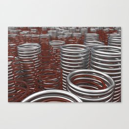 Glass and metal springs and coils Canvas Print