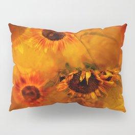 Autumn Playful Sunflowers Pillow Sham