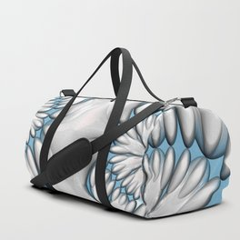 Silver and Blue Daisy Chain Duffle Bag