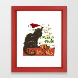 Joyeux Noel Le Chat Noir Christmas Parody Framed Art Print