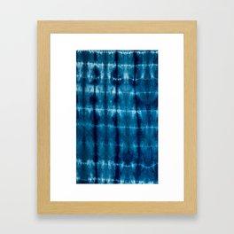 indigo shibori Framed Art Print