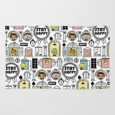 Pattern Stay Happy Animals Rug