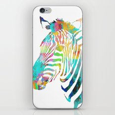 Rainbow Zebra Print iPhone & iPod Skin