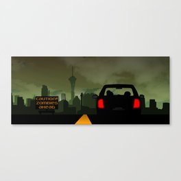 Caution Zombies Ahead Canvas Print