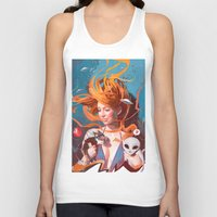 gravity Tank Tops featuring GRAVITY by Javier G. Pacheco