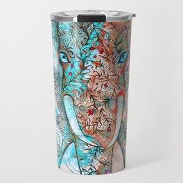 Bleue elephant Travel Mug