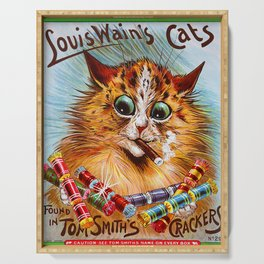 """Louis Wain's Cats """"Tom Smith's Crackers"""" Serving Tray"""