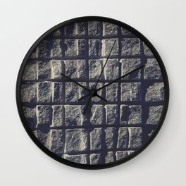 Blue Granite Wall Sawn Squares Wall Clock