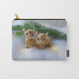 Holiday Fawns Carry-All Pouch