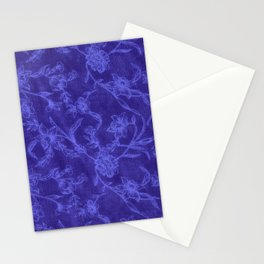 Flower Pattern (Blue version) Stationery Cards
