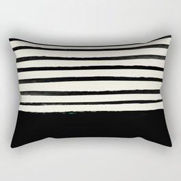 Black x Stripes Rectangular Pillow