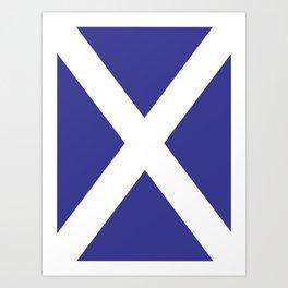 Scottish Flag Art Print