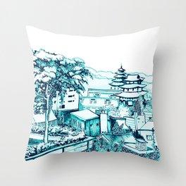 Samcheong dong  Throw Pillow