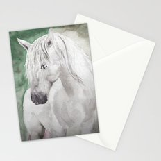 Cathy's white horse Stationery Cards