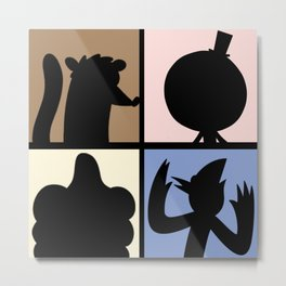 Cartoon Characters  Metal Print