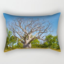 Beautiful Blue Boab Rectangular Pillow