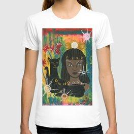Cat Goddess Bast T-shirt