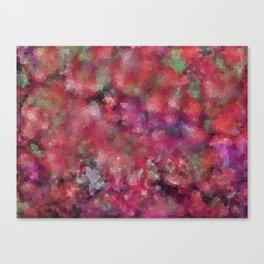 Mosaic Landscape, Rose Garden Canvas Print