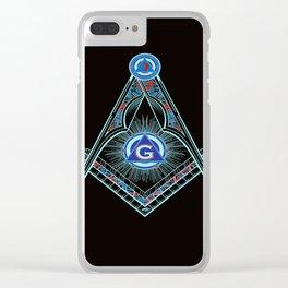 Freemason Symbol Clear iPhone Case