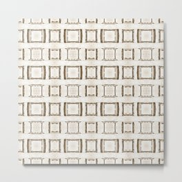 101 - Sepia many frames pattern Metal Print