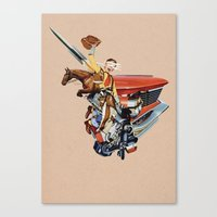 western Canvas Prints featuring Western by Lerson