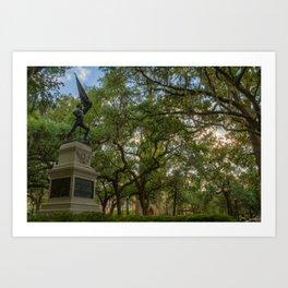 Savannah Square Art Print