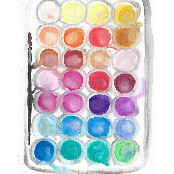 Watercolor Set Comforters
