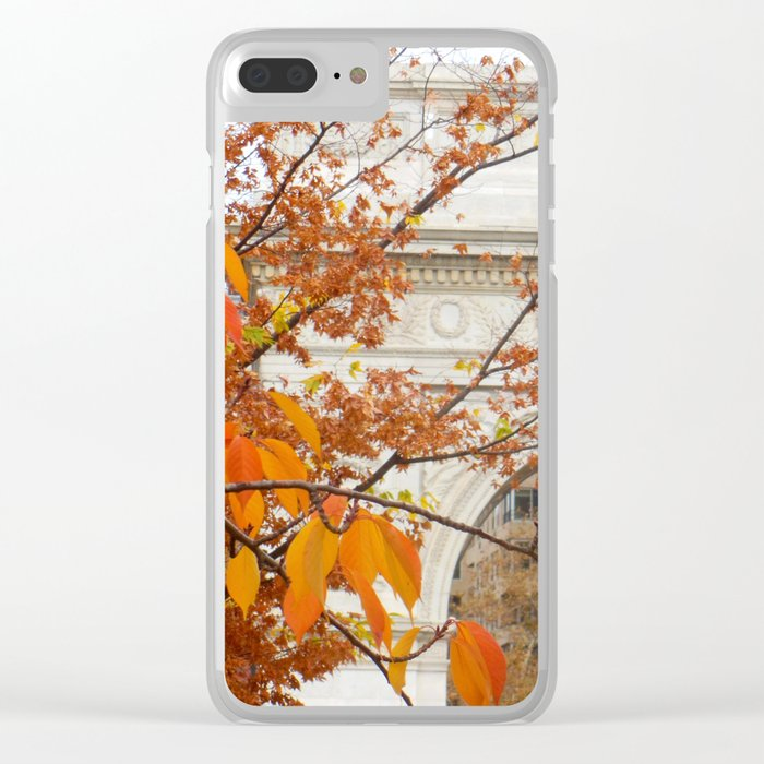 Fall in Washington Square Park, NYC Clear iPhone Case
