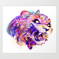 hunting Art Prints featuring Hunting by Bea Toa
