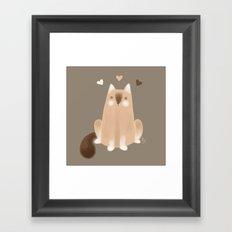 S'mores Cat Framed Art Print