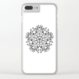 A Beautiful Star with a Pattern style Fashion Modern Design Print! Clear iPhone Case