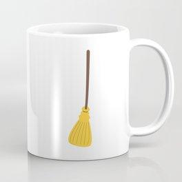 Witches broom for halloween Coffee Mug