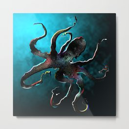 Abyssus the Octopus Metal Print