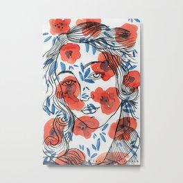 Botticelli girl Metal Print