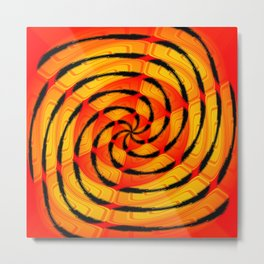 Vibrant tigerlike abstract Metal Print