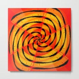 Vibrant tigerlike abstract Metal Print