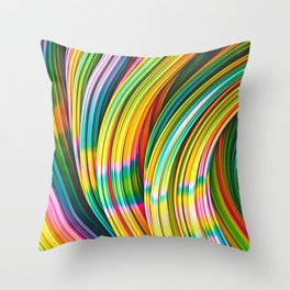 Stranded Strain IV.2 Abstract Strands Throw Pillow