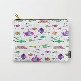 Catch all the fish! Tropical and colorful fishes swim in shoals Carry-All Pouch