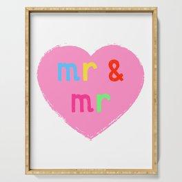 Mr & Mr ( coloured version ) Serving Tray