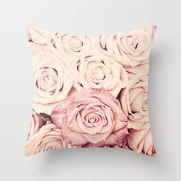 Some people grumble Floral rose roses flowers garden pink Throw Pillow