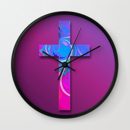Decorative Cross 2 Wall Clock