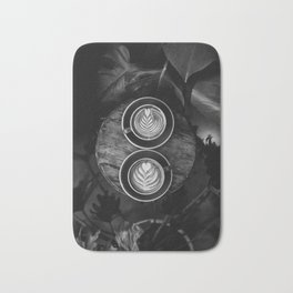 Coffees (Black and White) Bath Mat