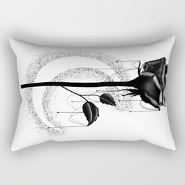 Black rose drips Rectangular Pillow