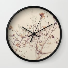 Magnolia tree. Winter Wall Clock