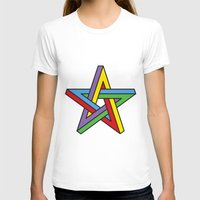 pentagram T-shirts featuring Impossible Pentagram by Stephen Kemmy Graphic Designer