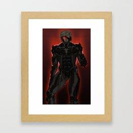 UNPLUG - Red Framed Art Print